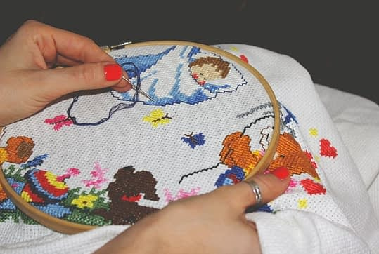 Close-up embroidery