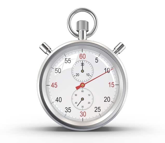 Stop watch used in time management