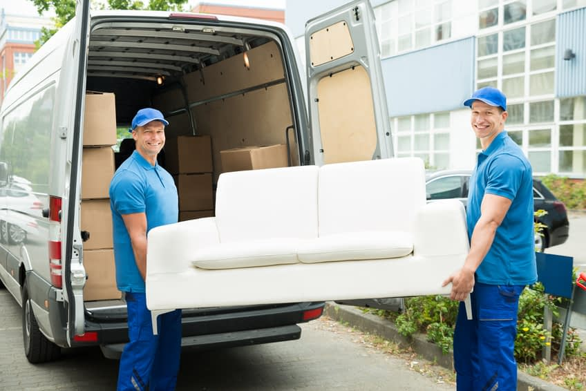 moving van with furniture